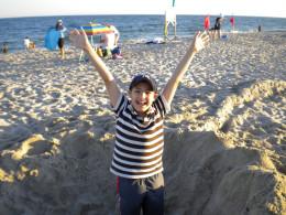 My son Matty at the beach