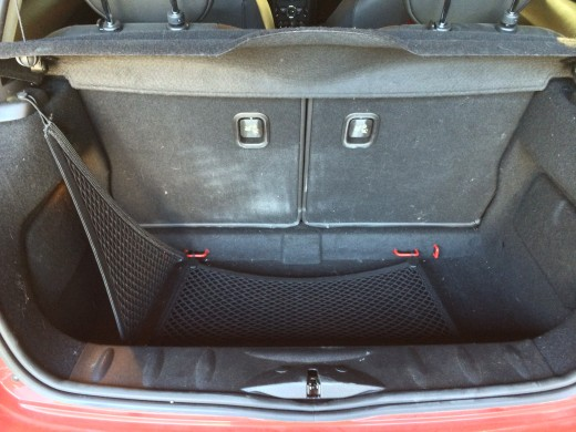 There isn't much trunk space, but you can work with it to fit as much as you need.