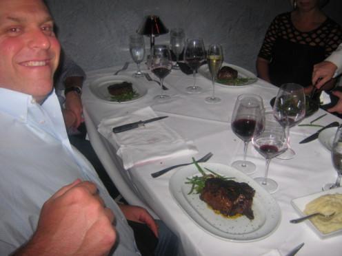 John Admiring The Ocean Club's Kobe Beef Steak Imported From Japan.