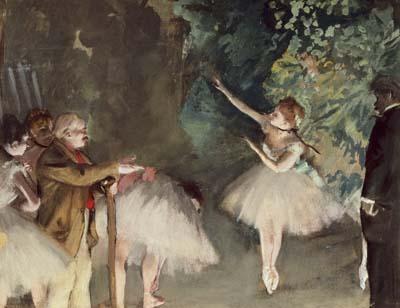 """Ballet Practice"" painting by Edgar Degas."