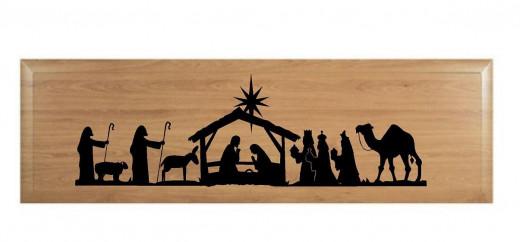 Nativity scene wall decal
