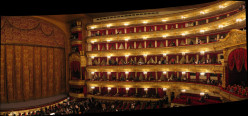 Inside the Bolshoi Theatre in Moscow, Russia.