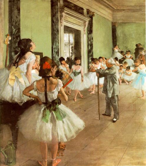 """Dance Class"" painted by Edgar Degas."