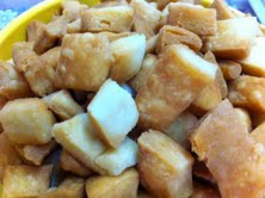 Shakarparas after frying
