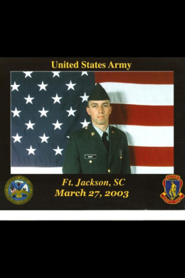 Christopher Grimet, served as a Medic in Iraq and Fort Bragg, 82nd Airborne