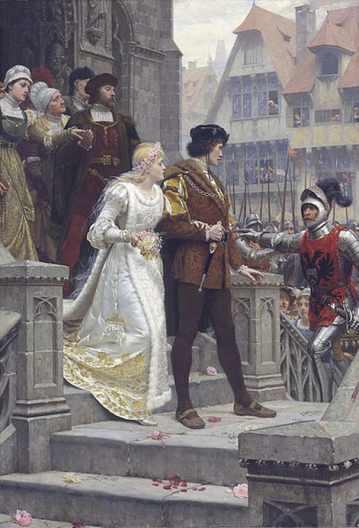 Medieval wedding with a call to arms