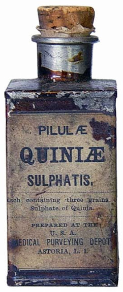 """Bottle of Quinine, the most """"popular"""" medication of the war"""