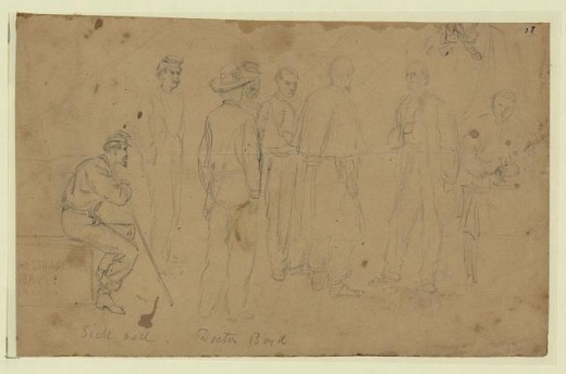 Sketch of troops that reported for Sick Call
