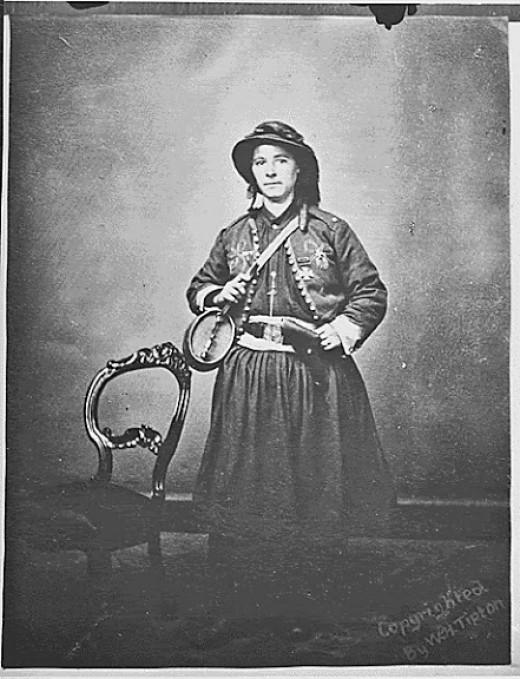 """A Vivandiere - """"French Mary"""" Tippe, 114th PA."""