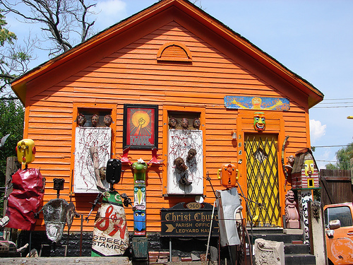 The Heidelberg Project of Wayne State University, of which the arts institute is a part, transforms abandoned houses into public art that attracts tourists.