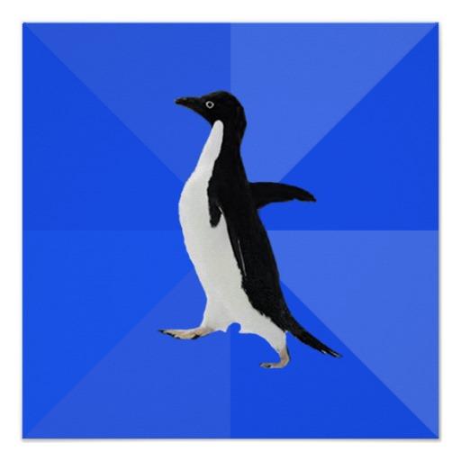 The socially awkward penguin