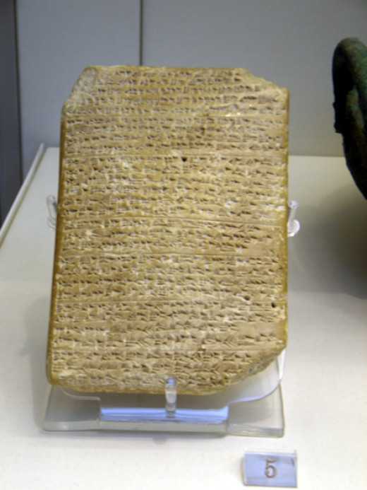 One of the Amarna Tablets, an early example of written language dated to the 1350's B.C.