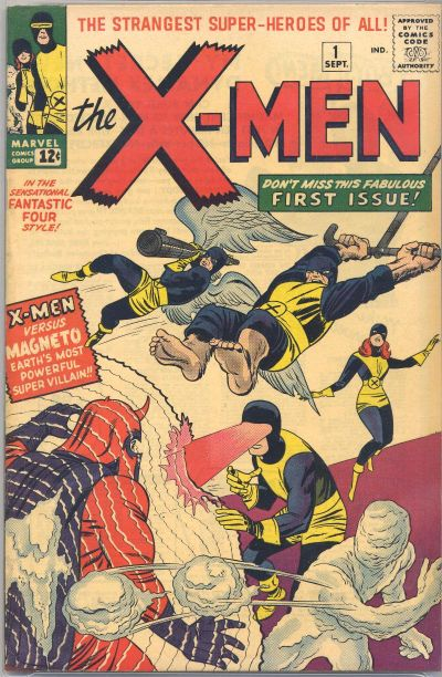 X-Men # 1 September 1963 by Stan Lee and Jack Kirbu