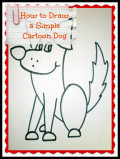 How to Draw a Simple Cartoon Dog With Oil Pastels