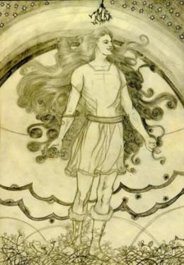 The young god Baldur tells the gods of his dream