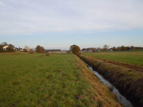 Western view of Sterpenich, Belgium, and Autelbas stream