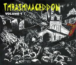 """""""Thrashmageddon Vol. I"""" compilation CD cover"""