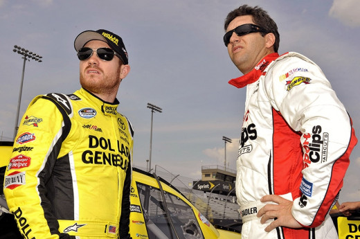 Sadler (right) is filling in for Brian Vickers (left) in the MWR #55 at Homestead-Miami