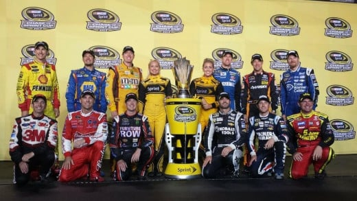 Ah, memories... where NASCAR's Chase began. Since then one driver was removed and two drivers added to this picture