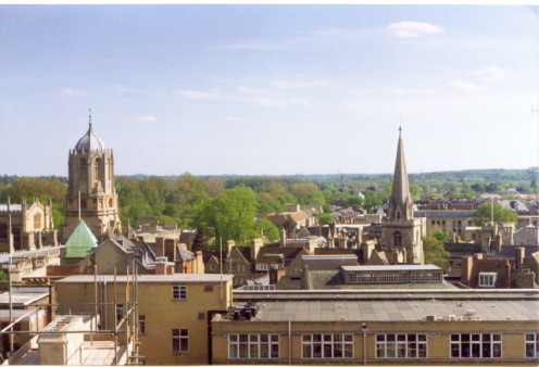 Oxford. Looking approximately south, from Carfax Tower.