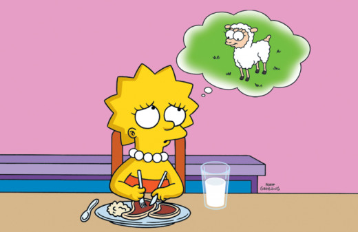 The Simpsons: Lisa Becomes a Vegetarian.