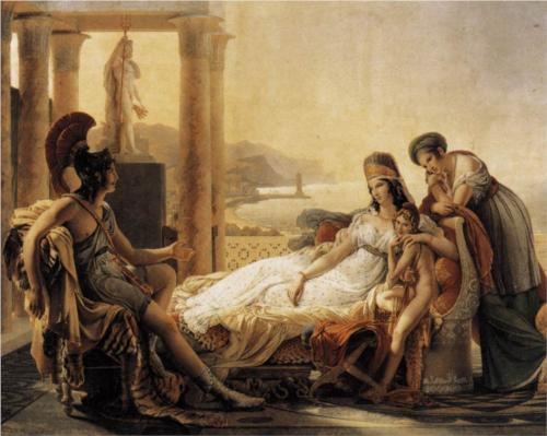 Aeneas visiting Queen Elissa (public domain, wikipaintings)