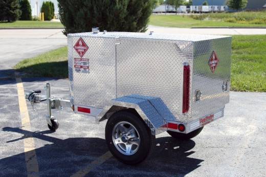 The Pro 100 Industrial FTS fuel tank trailer.
