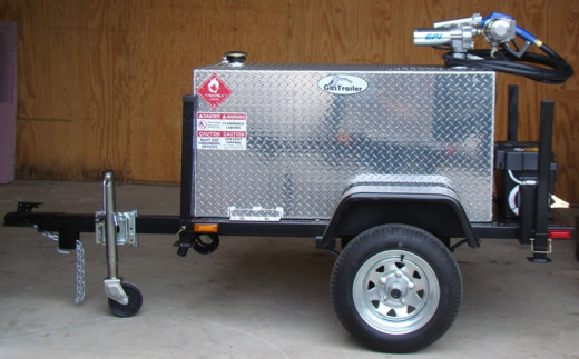 One of the fuel trailer prototypes that was first available at Gas Trailer.