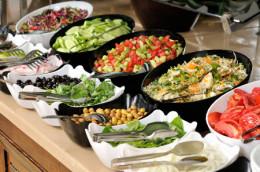 Buffet salads.