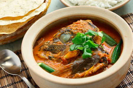 Pot curry is available at the Cafe Coral.