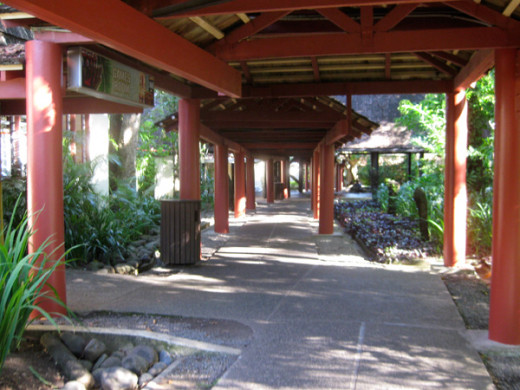 The main walkway at Shangri La.