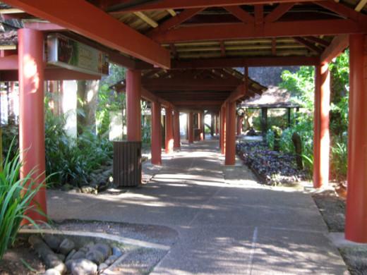 The main walkway at Shangri La.