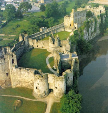 Cheptstow (Striguil) Castle - Chepstow overlooks the River Severn before it enters Severn Mouth near Bristol.