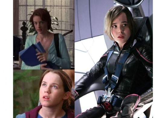 Sumela Kay (X-Men), Katie Stuart (X2) and Ellen Page X-Men (The Last Stand) As Kitty Pryde/Shadowcat