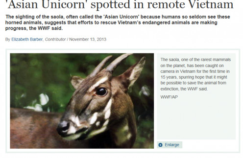 Awesome!  So, just maybe, the unicorn did not succumb to the flood :) Check Out The Whole Story On The: Christian Science Monitor