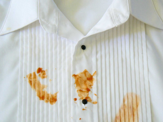 Remove stains using peroxide
