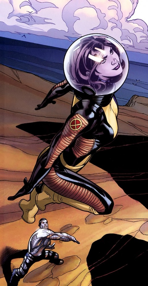 Kitty Pryde Space Suite to keep her in solid form.