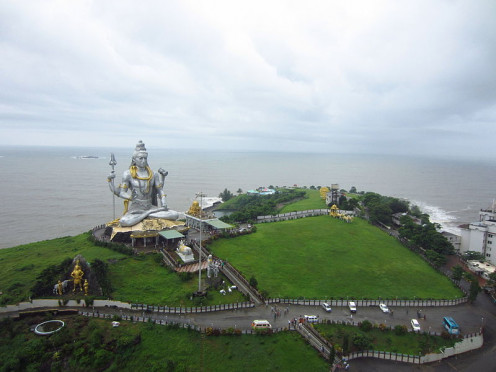 The captivating view of Shiva Statue, the second largest in the world