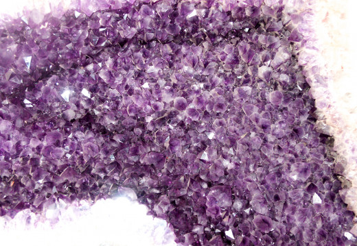 Amethyst is a very common and popular gem stone.