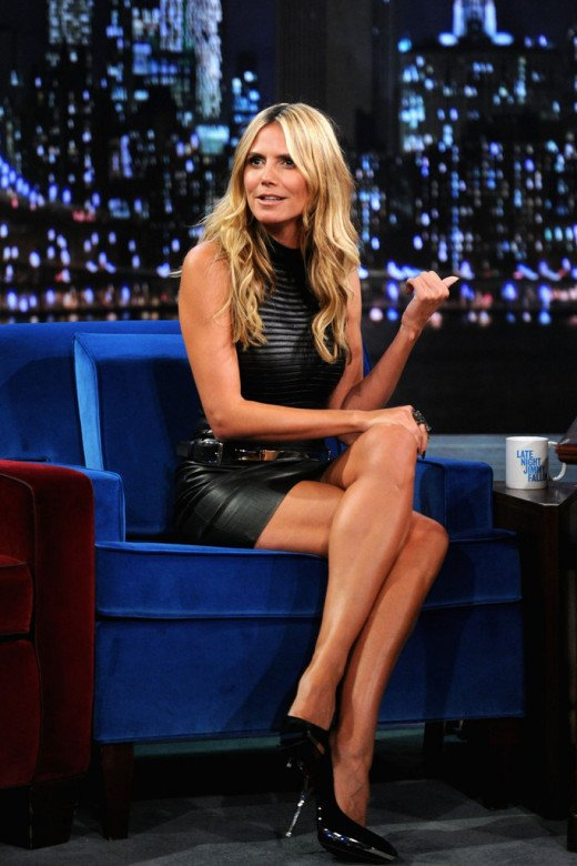 Heidi Klum on late night talk show