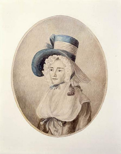 Elizabeth Simcoe in 1790, by Mary Anne Burges