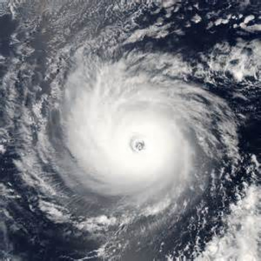 A view of Hurricane Daniel in 2006.
