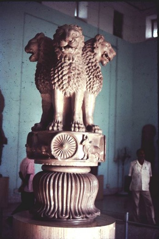 The Asokan Pillar at Sarnath which has been adopted to be the National Emblem of India.