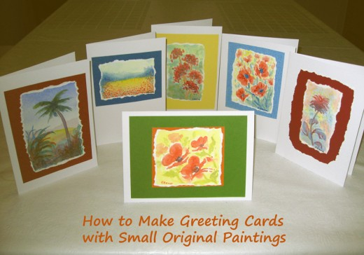 Make Greeting Cards with Original Small Paintings - I wrote an article on this!