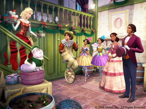Another screenshot image from the movie: Barbie In A Christmas Carol