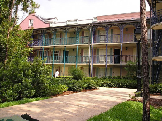 All of the Port Orleans buildings on the Riverside and French Quarter are beautiful.