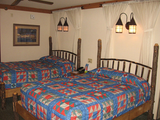 The rooms at Port Orleans are spacious and have different themes depending on which building you stay in.