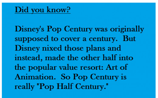 Ever wonder why Disney's Pop Century is not a full 100 years?