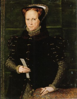 Mary I ruled England from 1553, gaining the throne when she was 37 years old.