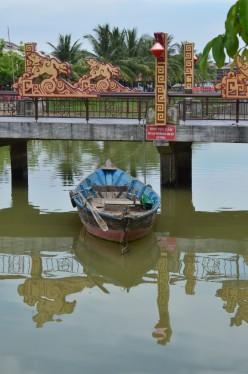 A boat on the Thu Bon River, Hoi An © A Harrison